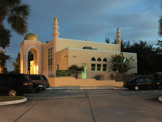 Masjid Taqwa Kissimee Florida Exterior at Night